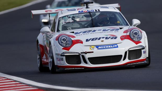 Kuba Giermaziak z dobrym czasem podczas treningu Porsche Supercup