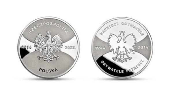 """""""Patrioci 1944 Obywatele 2014″ – okolicznościowa moneta NBP"""