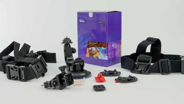 Akcesoria montażowe do sportowej kamery sterowanej zegarkiem i smartfonem