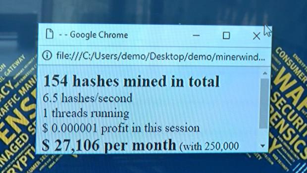 Cryptojacking coraz częściej atakuje
