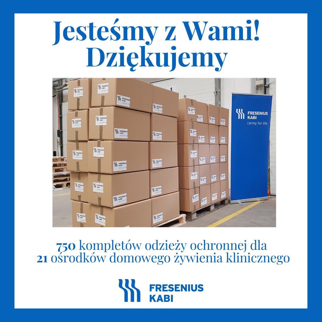 Sprzęt do walki z pandemią za ponad 100 tys. złotych trafi do ośrodków domowego żywienia klinicznego dzięki pomocy Fresenius Kabi