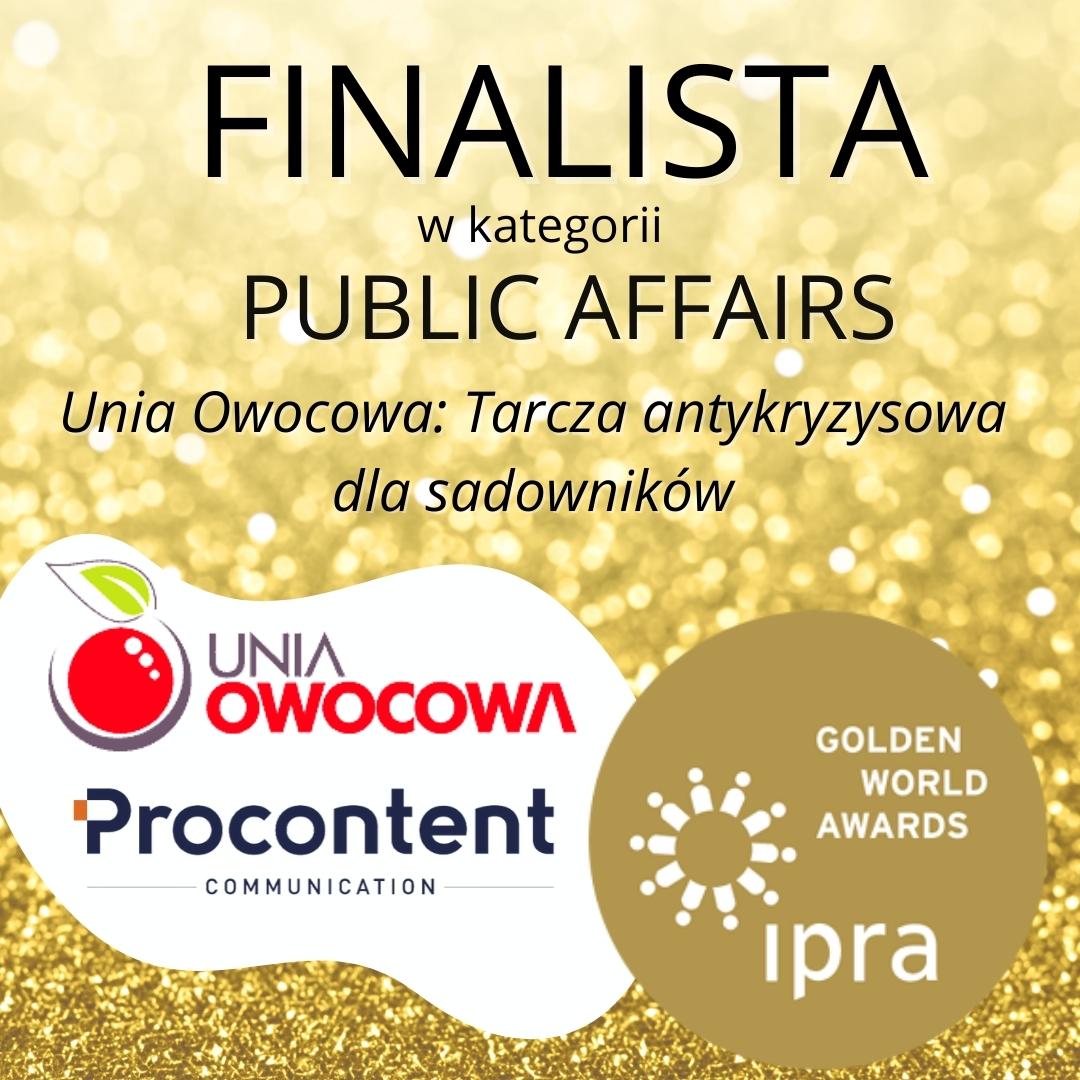 Unia Owocowa w finale prestiżowego konkursu IPRA Golden World Awards!